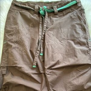 Nike Womens Brown Embroidered Pants M